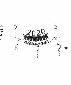 Raamsticker gelukkig nieuwjaar 2020