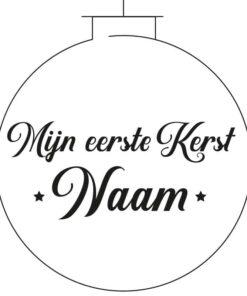 Naamsticker Kerstbal