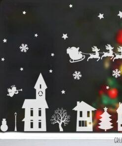 kerst raamdecoratie sticker