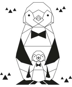 pinguin geometrisch sticker