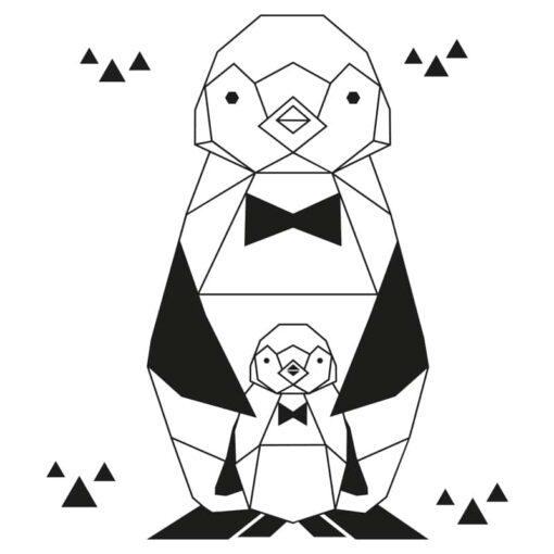 pinguin geometrisch sticker