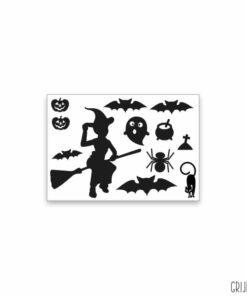 halloween sticker zwart