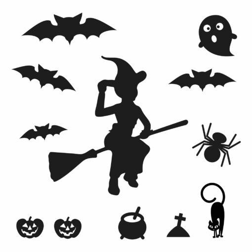 huisjes met halloween