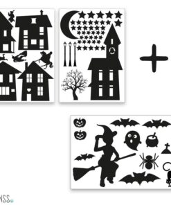 huisjes halloween sticker