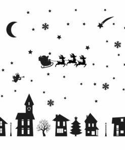 straatje huisjes kerst