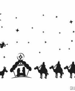Kerststal raamsticker