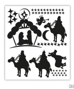 kerststal sticker