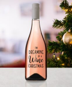 Wijnetiket kerst dreaming of a wine christmas