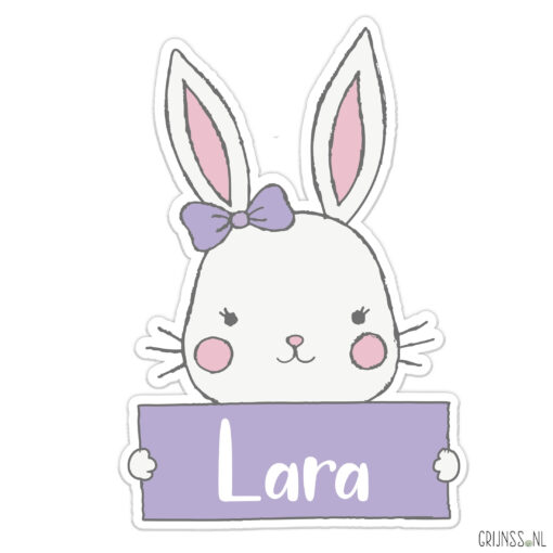 geboortebord Tuin konijn meisje basis