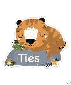 geboortebord tuin sleeping tiger jongen