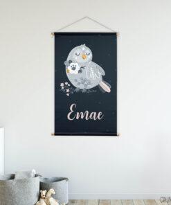 textielposter naam vogeltje sfeer