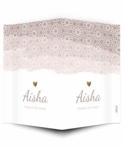 geboortebord voor op het raam arabisch roze