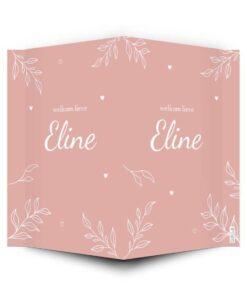 geboortebord roze takjes