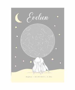 sterrenhemel poster geboorte