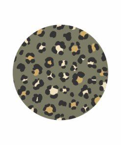 muurcirkel leopard groen