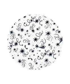 muurcirkel sterren wit