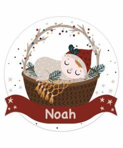 Geboortebord tuin kerstkindje kerstmuts