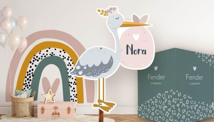geboorteborden en kinderkamer decoratie