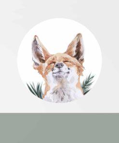 muurcirkel vos kinderkamer sfeer