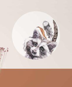 muurcirkel wasbeer sfeer