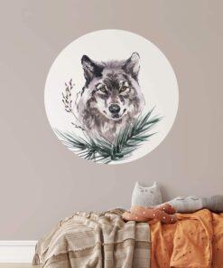 muurcirkel wolf kinderkamer