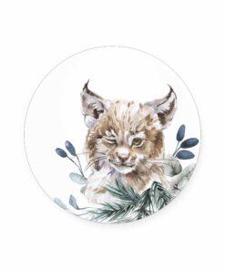 muurcirkel lynx kinderkamer
