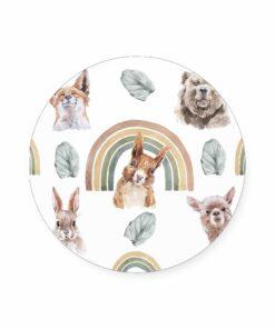 muurcirkel watercolor dieren