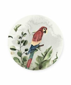 muurcirkel jungle papegaai