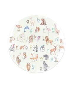 Muurcirkel ABC dieren